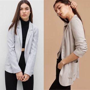 Talula Aritzia Kent Blazer Jacket Heather Perle